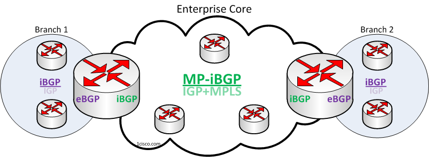 Enterprise Core Routing Design Models with BGP