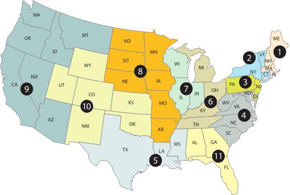 IPv6-US Map