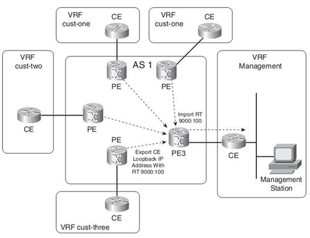 MPLS VPN PE Management Access